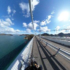 来島海峡大橋の360度カメラ画像! 楽しいなこれ