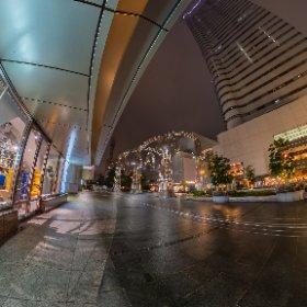 Yokohama at rainy night #DFE #HDR-DNG9 #thetaz1 #theta360