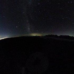 蝶ヶ岳山頂より 満天の星空 #theta360