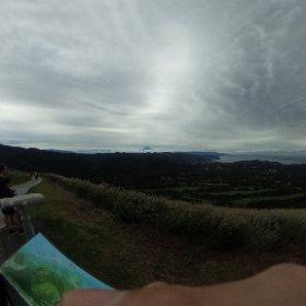 大室山の山頂にて。富士山見える #theta360