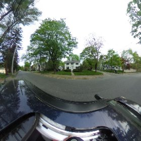 Sylvia Plath's house (front) at 26 Elmwood Road, Wellesley, on 11 May 2018.  #theta360