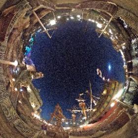 フォートレスエクスプロレーションとガリオン船ルネッサンス号。 #TDR全天球画像