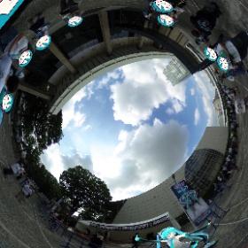 鼓童の物販並び中! #miku360 #theta360