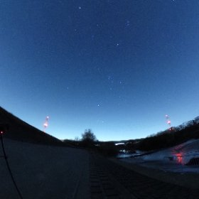 ふたご座流星群撮影中。バンバン流れてるよ! #theta360
