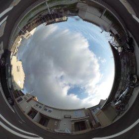 松山市の賃貸アパート、サージュフロレスタの敷地北側