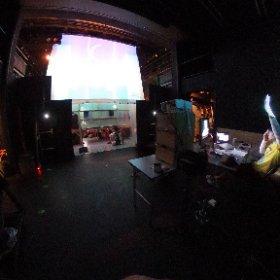 ゲネプロの文字どおり舞台裏。 #吉祥寺シアター #たちかわ創造舎 #theta360