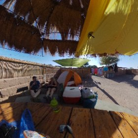 Camp Five: San Pedro de Atacama - we have the campground to ourselves, so we are setting up all our stuff!