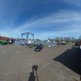 Sportbootshafen in Weener #theta360 #theta360de