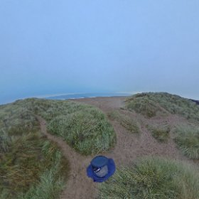 the North Sea in Northunberland #snow3d #theta360 #theta360uk