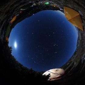 紅葉の木曽駒ケ岳 頂上テント場の夜 アップデートでTHETA SCでも可能になったマニュアル撮影に挑戦! 長時間露光で撮ってみました #theta360