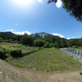 削られし山  秩父札所八番より いつか無くなってしまうのかな。。。武甲山 #RICOH THETAで撮る、360°で残したい日本の風景 #武甲山 #神奈備 #石灰岩 #採掘 #埼玉 #秩父 #横瀬 #札所八番 #西善寺 #theta360