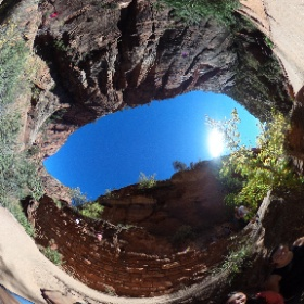 Hiking up Angel's Landing at Zion National Park.  #theta360