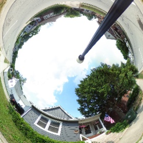The front of the old Hascall home. #theta360
