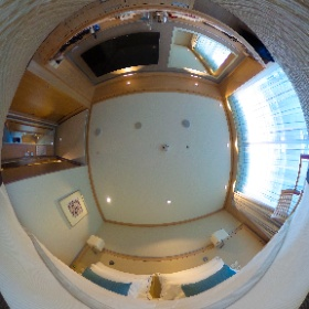 Balcony stateroom on a Viking Longship  #theta360