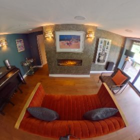AMC Design. Interiors with personality by Ann Marie Cousins.  Basement bar & lounge area. Residential property, Burley-in-Wharfedale, Nr Ilkley, West Yorkshire.                        #interiordesign #interiordesigner #ilkley #theta360 #theta360uk