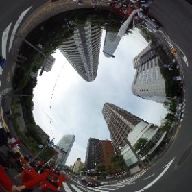 March for Jesus through the heart of Tokyo in 360 degrees...  #theta360