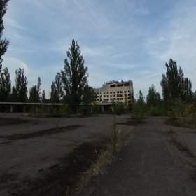 Pripyat city center at the end of the day. #theta360