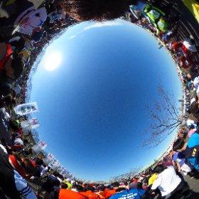 Half Marathon Start2 #theta360