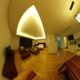 カンボジアのホテルで宿泊していたお部屋でシートθ #theta360