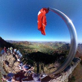 Belchenfluh, 1000 m, on a very sunny day #theta360 #theta360de
