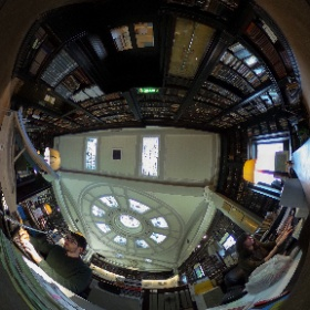 Librarians at the Portico, an entirely magical hidden space high up in the city. #theta360