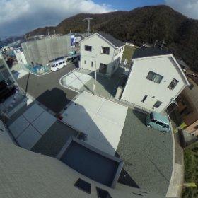 屋上右後眺望 #theta360