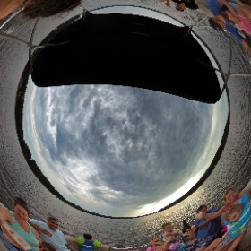 Five Families on a Boat! #LakeGaston #Lakehouse #theta360