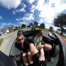 Top down Porsche drivin' in Florida.  #theta360