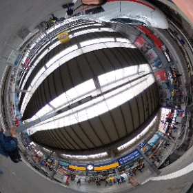 At the train station in Munich, Germany #theta360