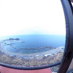 ホテル竜飛では、津軽海峡が一望できるお部屋で最高ロケーション。  ボーッとする時間を過ごしました。