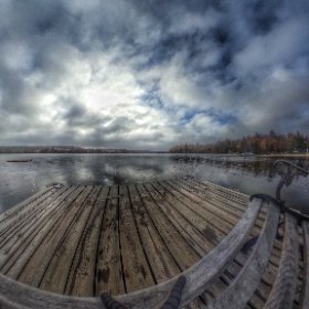 Look out from Oxtongue lake dock #algonquin #outdoors #nature #wilderness #travel #landscape #forest #tree #canada #canada_gram #artofautumn #lake #hrd #snapseed #theta360
