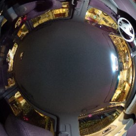 Inside the Nissan Elgrand. 360 snapshot, 10 seconds exposure, Ricoh Theta S