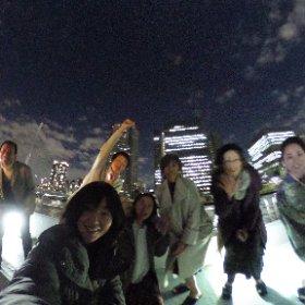 満月の夜、東京湾屋形船忘年会! リクエストにおこたえして、360度カメラで撮影! #theta360