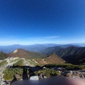 紅葉の木曽駒ケ岳山頂! #theta360