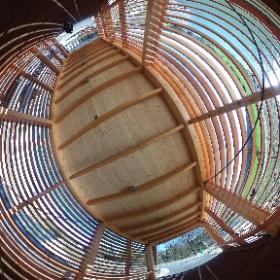 An einem frühlingshaften Wintertag auf der Dünnern-Holzbrücke #theta360 #theta360de