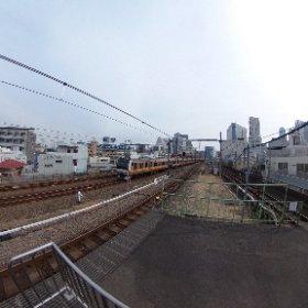 2018JR大久保駅ホーム(東京都新宿区) #theta360