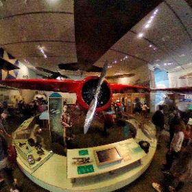 The Lockheed Vega of Amelia Earhart, Smithsonian Air and Space Museum, Washington DC. #lockheed #lookaround #rondkijken #theta360