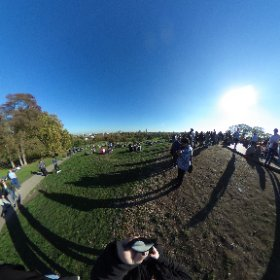 Atop Primrose Hill on an otherworldly gorgeous Sunday in London.  #theta360