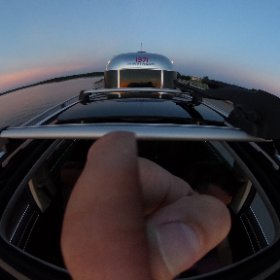 360 out the sunroof on the Chesapeake Bay Bridge last night. #theta360