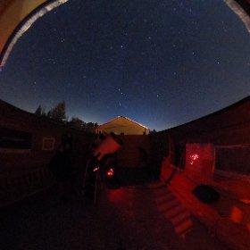 6 janvier 2018, 22h au Pavillon d'astronomie Velan du Domaine St-Bernard de Tremblant. Température: -33°c Ciel dégagé.
