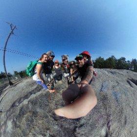 Hiking stone mountain