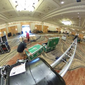 The beginning of the show. Truss is in place. Time to add lights, audio and pizzazz.  #theta360