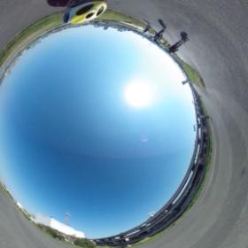今日は月例荒川サイクリング.良い天気です. #theta360
