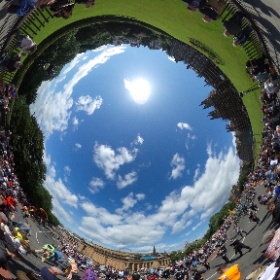 Edinburgh Festival Carnival at the Mound 16th July 2017 #theta360