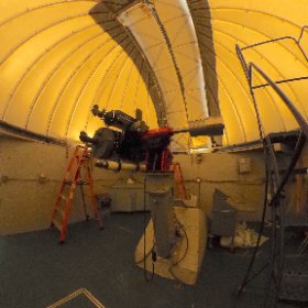 Inside the telescope dome at Wahnsiedler Observatory, Lynnville, Indiana. #theta360
