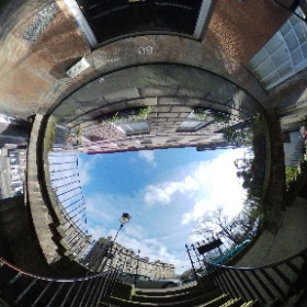Part way down the stairs to North West Circus Place #theta360