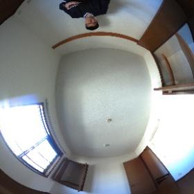 世田谷区中町にあります「プルミエ中町」2LDKテラスハウスの2階北側洋室パノラマ写真です。物件についてはこちらhttp://www.futabafudousan.com/bukken/g/syousai/528dat.html #theta360