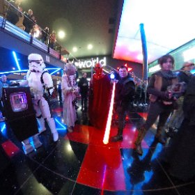 ROGUE ONE: A STAR WARS STORY - The Superheroes charity fundraisers in amazing Star Wars costumes at the midnight launch screening at Cineworld Sheffield. #theta360 #theta360uk