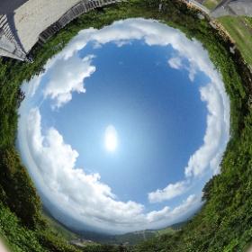 愛知県最高峰 茶臼山 山頂展望台から #茶臼山 #山頂 #展望台 #theta360