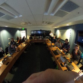 Presenting on VR and 360. ‪@uafairbanks @AKEPSCoR‬ #theta360